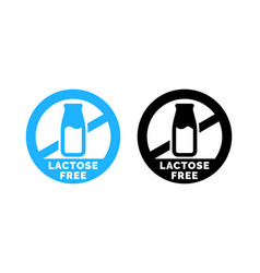 Lactose free logo food icon vector