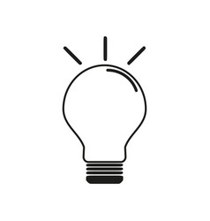 lamp icon with line vector image