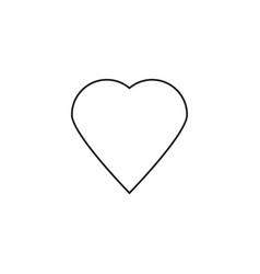 linear heart icon vector image