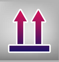 logistic sign of arrows purple gradient vector image