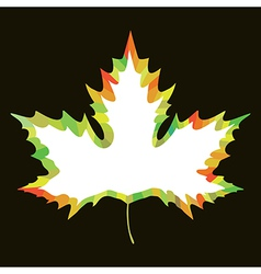 Maple leaf design vector