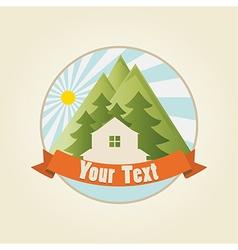 mountain house 3 vector image