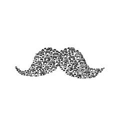 Mustache doodle vector
