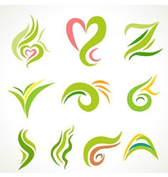 Natural green icon vector image
