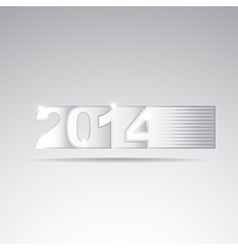 New year 2014 tittle vector image