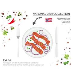 norwegian cuisine european national dish vector image