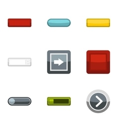On off buttons icons set flat style vector image