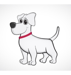 Outlined cute cartoon dog vector