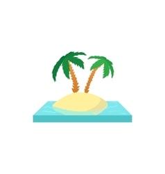palms on island icon cartoon style vector image