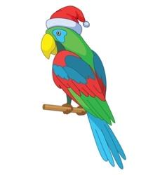 parrot santa claus vector image
