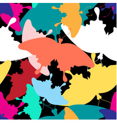 pattern colorful butterflies vector image