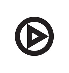 play button icon web music or video vector image