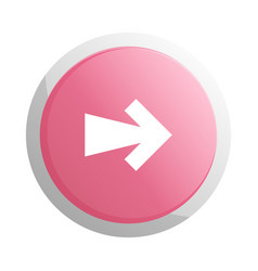 red round button with next arrow symbol vector image