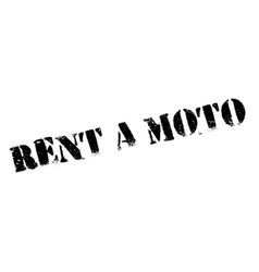 Rent a moto rubber stamp vector
