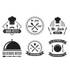 Restaurant badge and logo good for print vector