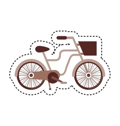 retro bicycle isolated icon vector image