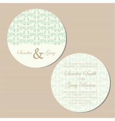 Round invitation green vector
