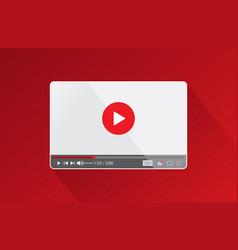 screen video thumbnail vector image
