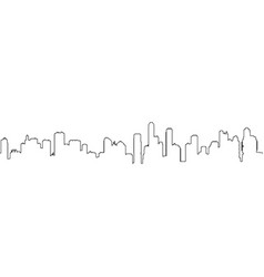 seamless one line cityscape silhouette vector image