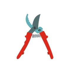 Secateurs plane icon vector