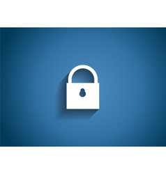 Security glossy icon vector