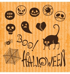 Set Happy Halloween vector image
