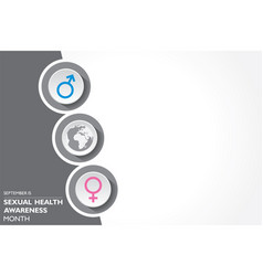 Sexual health awareness month observed in vector