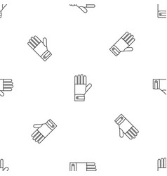 Ski gloves pattern seamless vector