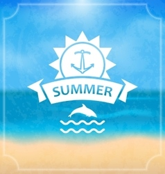 summer template holidays design and typography vector image