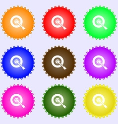 Target icon sign Big set of colorful diverse vector