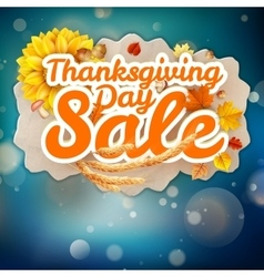 Thanksgiving Day sale EPS 10 vector image