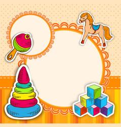 Toys frame sketch vector image