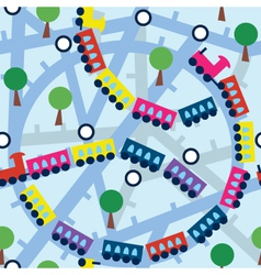 train or sunbway map vector image