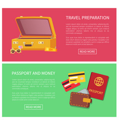 travel preparation web pages vector image