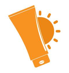 Uv sun cream logo flat style vector