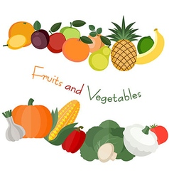 Various fruit and vegetables vector