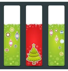 A set of Christmas congratulation stickers vector image vector image