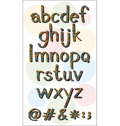Alphabets vector image