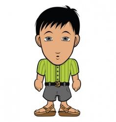 chibi guy nerd vector image vector image