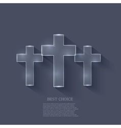 cross on blue background Eps 10 vector image vector image