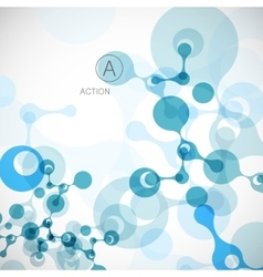 Geometric background molecule and communication vector image vector image