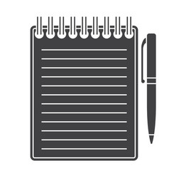 notebook silhouette vector image