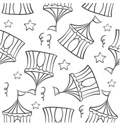 tent circus hand draw pattern collection vector image vector image