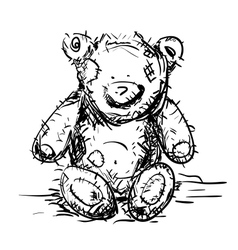 Toy Teddy Bear vector image