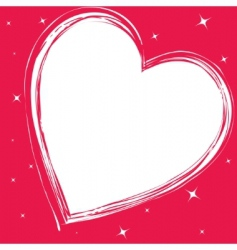 love card with hearts vector image vector image