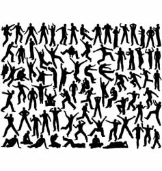 male silhouettes vector image vector image