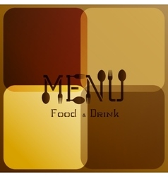 restaurant menu with modified letters 3 vector image