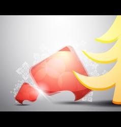 christmas speech bubble vector image vector image
