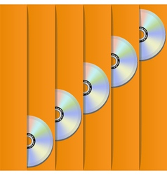 disc pockets vector image vector image