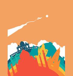 travel india world landmark landscape vector image vector image